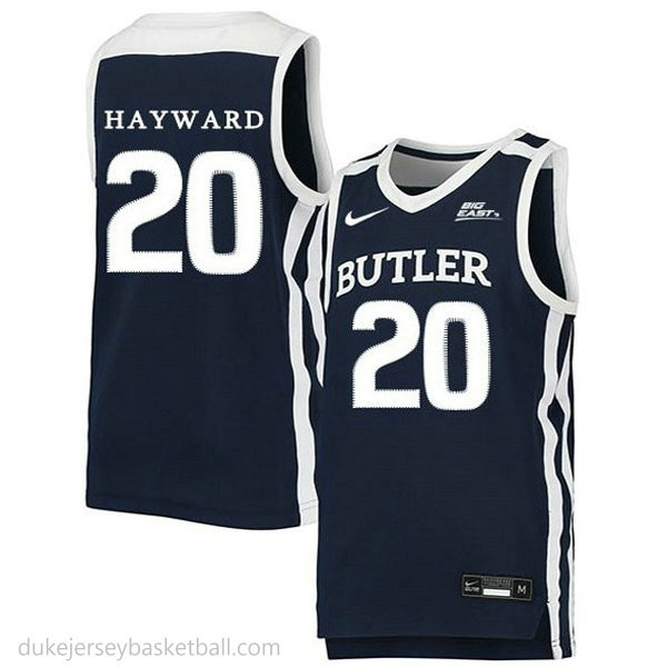 Gordon Hayward Butler Bulldogs #20 Swingman College Basketball Womens Navy Jersey