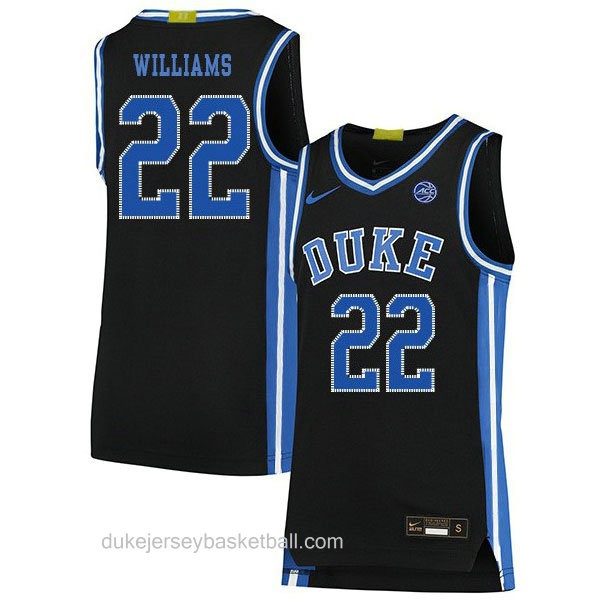Mens Jay Williams Duke Blue Devils #22 Authentic Black Colleage Basketball Jersey