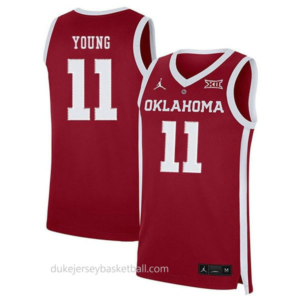 Trae Young Oklahoma Sooners #11 Swingman College Basketball Womens Red Jersey