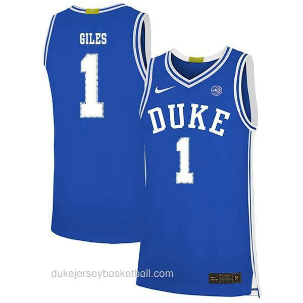 Womens Harry Giles Iii Duke Blue Devils #1 Authentic Blue Colleage Basketball Jersey