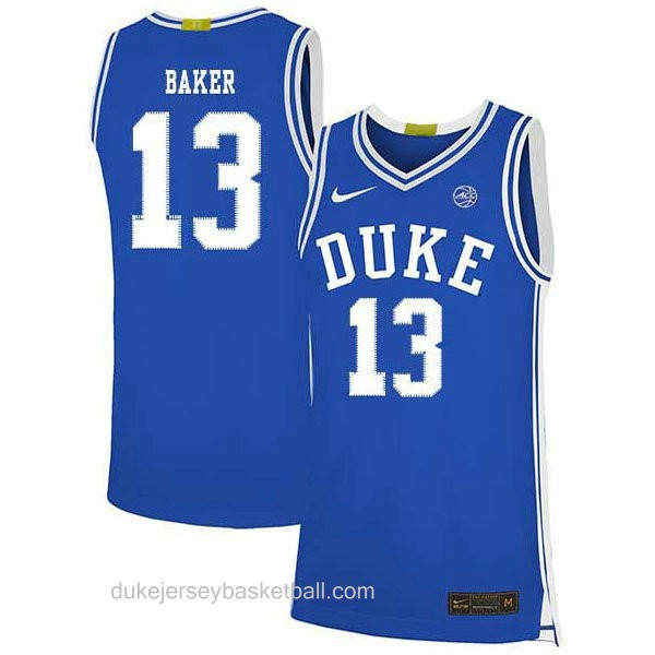 Womens Joey Baker Duke Blue Devils #13 Authentic Blue Colleage Basketball Jersey