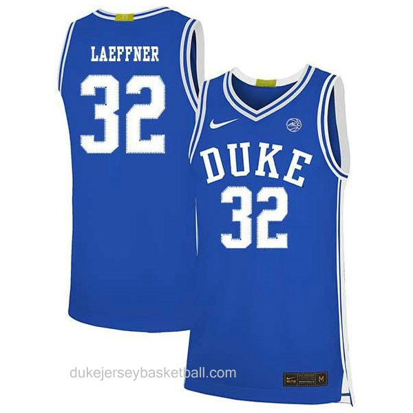Youth Christian Laettner Duke Blue Devils #32 Authentic Blue Colleage Basketball Jersey