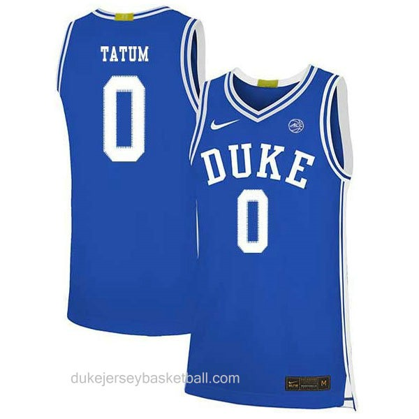 Youth Jayson Tatum Duke Blue Devils 0 Authentic Blue Colleage Basketball Jersey