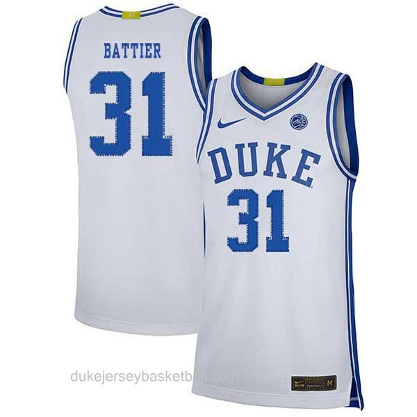 Youth Shane Battier Duke Blue Devils #31 Authentic White Colleage Basketball Jersey
