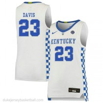 Anthony Davis Kentucky Wildcats #23 Authentic College Basketball Womens White Jersey