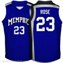 Derrick Rose Memphis Tigers #23 Authentic College Basketball Womens Blue Jersey