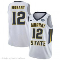 Ja Morant Murray State Racers #12 Authentic College Basketball Womens White Jersey