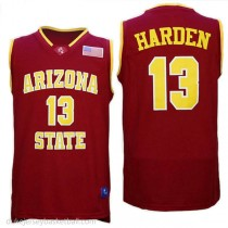 James Harden Arizona State Sun Devils #13 Authentic College Basketball Mens Red Jersey