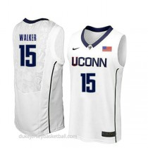 Kemba Walker Uconn Huskies #15 Authentic College Basketball Womens White Jersey