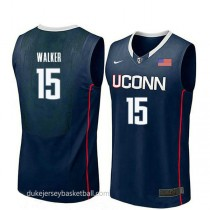 Kemba Walker Uconn Huskies #15 Authentic College Basketball Youth Navy Jersey
