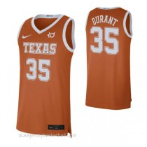 Kevin Durant Texas Longhorns #35 Authentic College Basketball Mens Orange Jersey