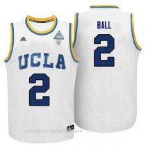 Lonzo Ball Ucla Bruins #2 Authentic Adidas College Basketball Mens White Jersey