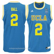 Lonzo Ball Ucla Bruins #2 Authentic Adidas College Basketball Youth Blue Jersey