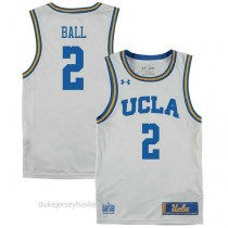 Lonzo Ball Ucla Bruins #2 Authentic College Basketball Youth White Jersey