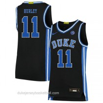 Mens Bobby Hurley Duke Blue Devils #11 Authentic Black Colleage Basketball Jersey