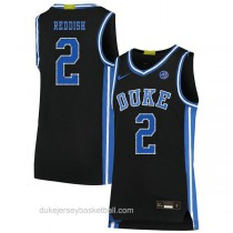 Mens Cam Reddish Duke Blue Devils #2 Authentic Black Colleage Basketball Jersey