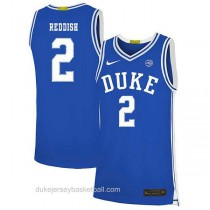 Mens Cam Reddish Duke Blue Devils #2 Swingman Blue Colleage Basketball Jersey
