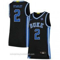 Mens Cassius Stanley Duke Blue Devils #2 Authentic Black Colleage Basketball Jersey