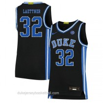 Mens Christian Laettner Duke Blue Devils #32 Authentic Black Colleage Basketball Jersey
