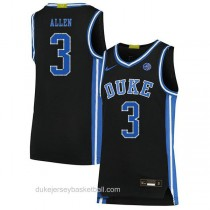Mens Grayson Allen Duke Blue Devils #3 Authentic Black Colleage Basketball Jersey