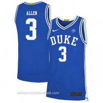 Mens Grayson Allen Duke Blue Devils #3 Authentic Blue Colleage Basketball Jersey