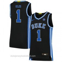 Mens Harry Giles Iii Duke Blue Devils #1 Authentic Black Colleage Basketball Jersey
