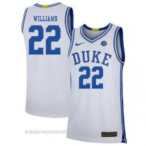 Mens Jay Williams Duke Blue Devils #22 Authentic White Colleage Basketball Jersey