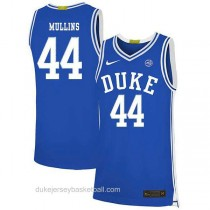 Mens Jeff Mullins Duke Blue Devils #44 Authentic Blue Colleage Basketball Jersey