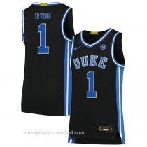 Mens Kyrie Irving Duke Blue Devils #1 Authentic Black Colleage Basketball Jersey