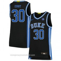 Mens Seth Curry Duke Blue Devils #30 Authentic Black Colleage Basketball Jersey