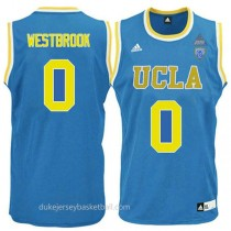 Russell Westbrook Ucla Bruins 0 Authentic Adidas College Basketball Mens Blue Jersey