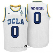 Russell Westbrook Ucla Bruins 0 Authentic Adidas College Basketball Youth White Jersey