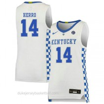Tyler Herro Kentucky Wildcats #14 Limited College Basketball Youth White Jersey