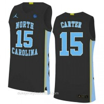 Vince Carter North Carolina Tar Heels #15 Authentic College Basketball Youth Black Jersey