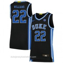 Womens Jay Williams Duke Blue Devils #22 Authentic Black Colleage Basketball Jersey