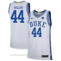 Womens Jeff Mullins Duke Blue Devils #44 Authentic White Colleage Basketball Jersey