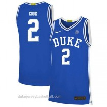 Womens Quinn Cook Duke Blue Devils #2 Authentic Blue Colleage Basketball Jersey