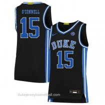 Youth Alex Oconnell Duke Blue Devils #15 Authentic Black Colleage Basketball Jersey