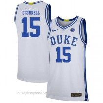 Youth Alex Oconnell Duke Blue Devils #15 Authentic White Colleage Basketball Jersey