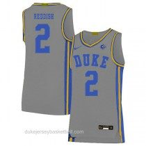 Youth Cam Reddish Duke Blue Devils #2 Swingman Grey Colleage Basketball Jersey