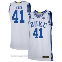 Youth Jack White Duke Blue Devils #41 Authentic White Colleage Basketball Jersey