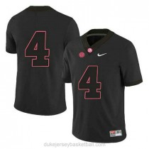 Youth Jerry Jeudy Alabama Crimson Tide #4 Authentic Black College Football C012 Jersey No Name