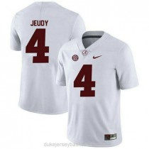 Youth Jerry Jeudy Alabama Crimson Tide #4 Authentic White College Football C012 Jersey