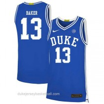 Youth Joey Baker Duke Blue Devils #13 Authentic Blue Colleage Basketball Jersey