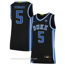 Youth Luke Kennard Duke Blue Devils #5 Authentic Black Colleage Basketball Jersey