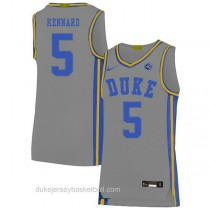 Youth Luke Kennard Duke Blue Devils #5 Authentic Grey Colleage Basketball Jersey