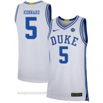 Youth Luke Kennard Duke Blue Devils #5 Authentic White Colleage Basketball Jersey