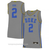 Youth Quinn Cook Duke Blue Devils #2 Authentic Grey Colleage Basketball Jersey