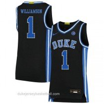 Youth Zion Williamson Duke Blue Devils #1 Authentic Black Colleage Basketball Jersey