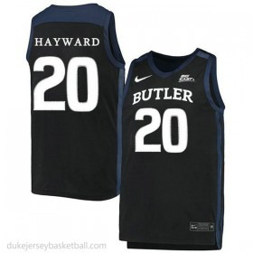 Gordon Hayward Butler Bulldogs #20 Authentic College Basketball Youth Black Jersey